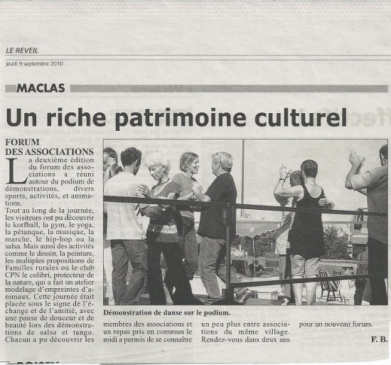 Forum des associations à Maclas